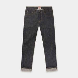 SLIM TAPERED 14.5oz ORANGE LISTED ORGANIC SELVEDGE JEANS jean HAWKSMILL DENIM CO