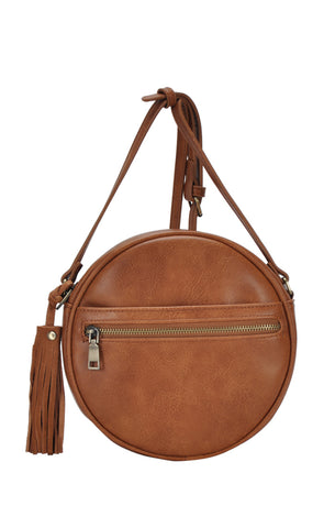 Round Crossbody - Tan