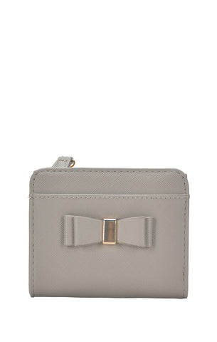 Bow Detail Wallet - Grey