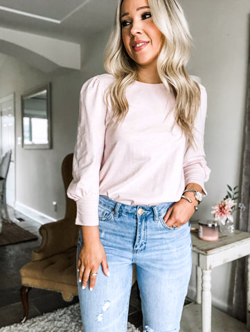 Puff Sleeve Top - Blush