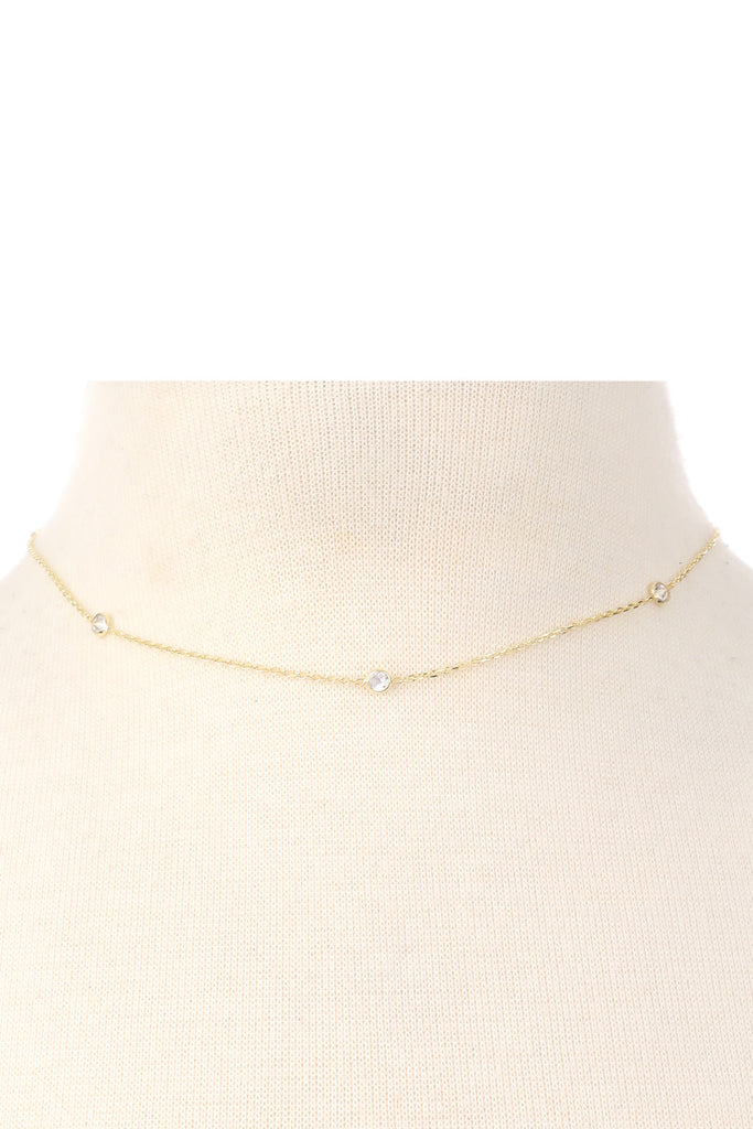 Dainty Choker Necklace - Gold