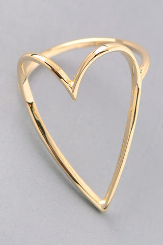 Open Heart Ring - Gold