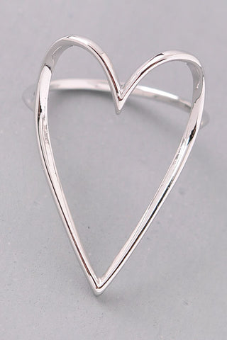Open Heart Ring - Silver