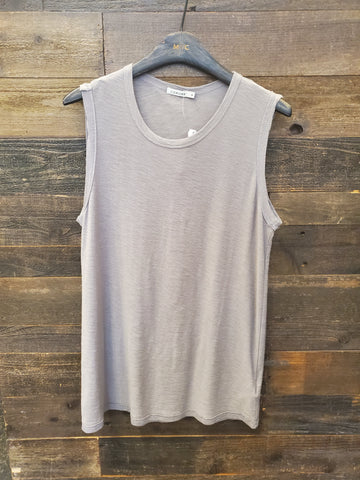 Malibu Muscle Tee - Light Grey