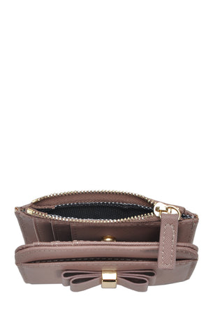 Bow Detail Wallet - Mauve