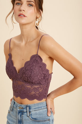Lace Love Bralette -  Plum