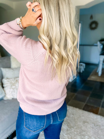 Upper East Side Sweater - Dusty Mauve