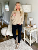 Cozy Chic Pullover - Taupe