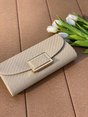 Date Night Clutch - Beige