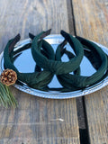 Fabric Knot Headband - Hunter Green