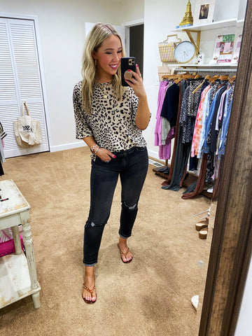 She's A Force Leopard Top - Taupe