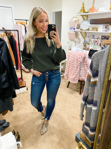 Upper East Side Sweater - Olive