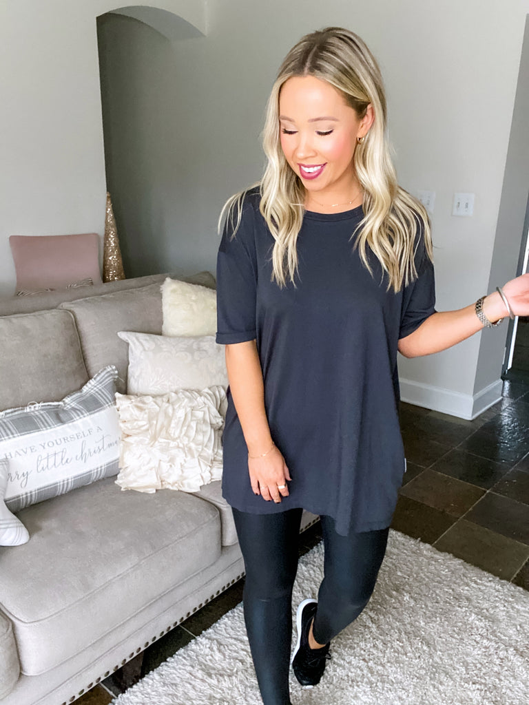 Oversized Tee - Washed Black