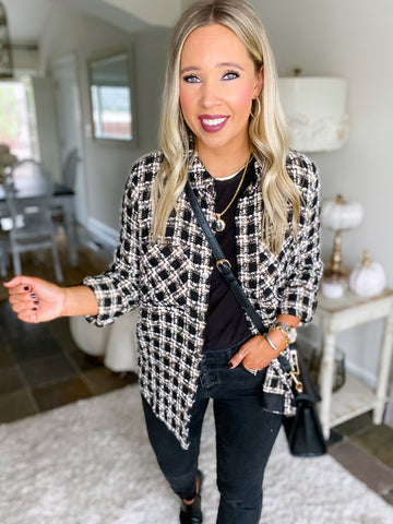 Uptown Tweed Top