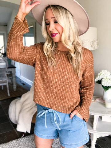 Light Knit Top - Cinnamon