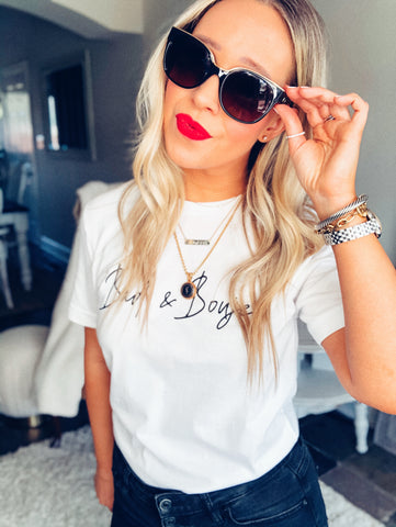 Bad & Boujee Graphic Tee - White
