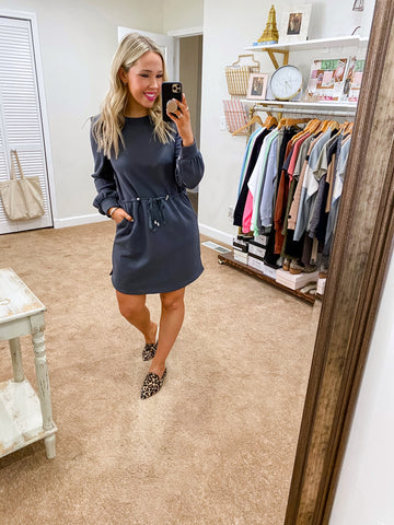 Laid Back Love Dress - Graphite