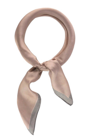 Silky Scarf - Blush/Striped Edge