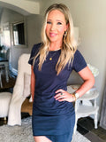 Perfect Fit T-Shirt Dress - Navy