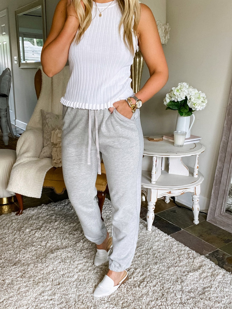 City Chic Sweatpants - Heather Grey