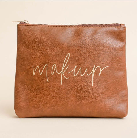 Makeup Faux Leather Makeup Bag