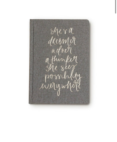 She's A Dreamer Fabric Notebook