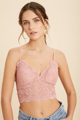 Lace Love Bralette -  Blush