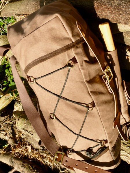 Bison Bushcraft Garron Pack Side detail