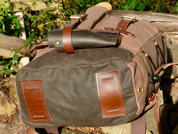 Wax Cotton Base Bison Bushcraft Garron Pack