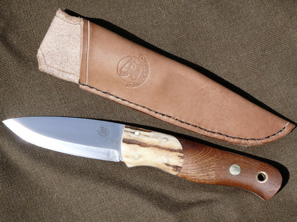 Forester Knife with Elm Scales and Antler Bolsters