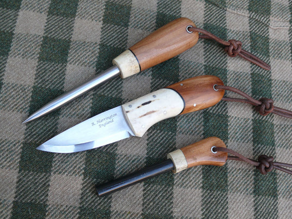 Bushmans Pal Set with matching Marlin Spike and Strikefire in Applewood and Antler Bolsters