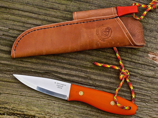 RWL34 Stainless Steel and Hunter Orange G10 Scales