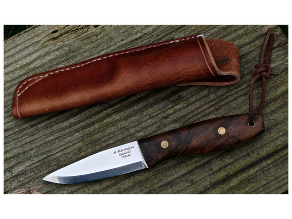 Walnut Handle Bushcraft Knife