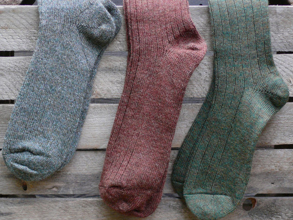 Derby Tweed, Brown and Bronze Green Socks