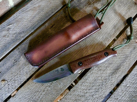 All Weather neck knife Coffee Sack Micarta