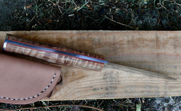 Wilderness Knife Spalted Burl Maple