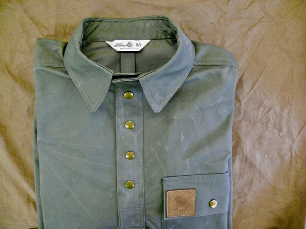 Cotton Twill shirt in Lovat Green