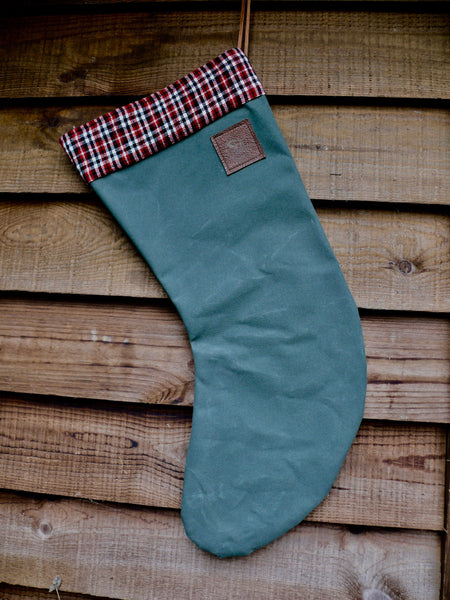canvas Christmas Stocking Red/White