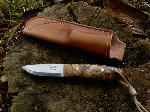 Bison Bushcraft Knife RWL34 California Buckeye Burl