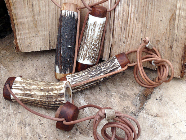 Antler Needle Cases