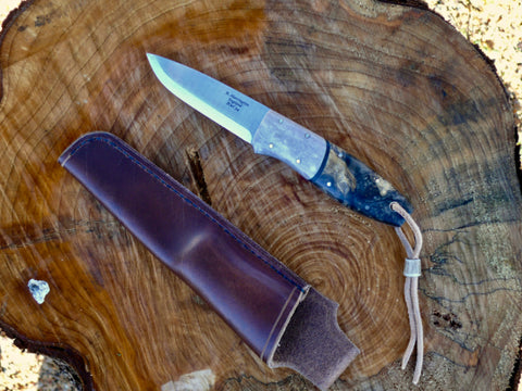 Bison Bushcraft Knife California Buckeye Burl
