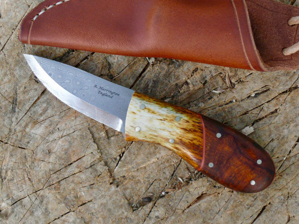 Desert Ironwood and Bone Damasteel Necker