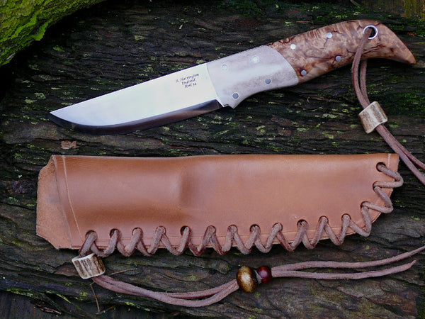 Birch and Reindeer Antler Nordic Knife RWL34