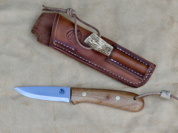 Bison Bushcraft Woodcraft Knife Service Wood