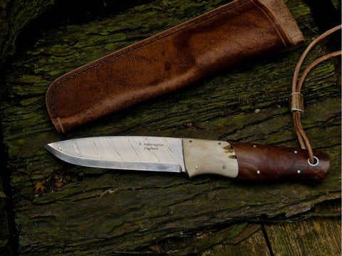 Damascus Woodie Knife