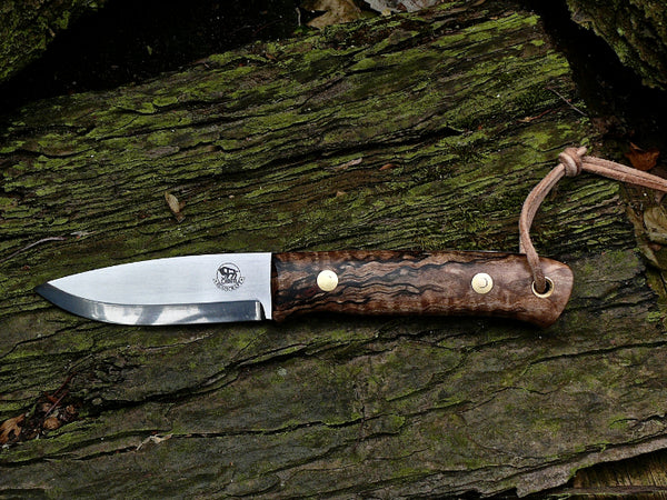 Woodsman Knife, Spalted Maple Burl.