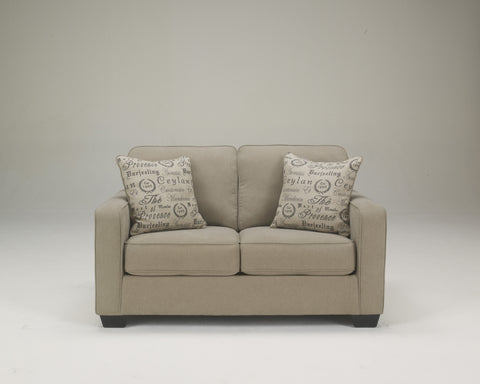 Alenya Vintage Casual Tan Fabric Loveseat