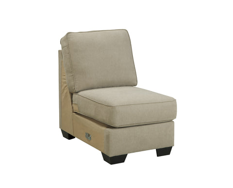 Alenya Vintage Casual Tan Fabric Armless Chair