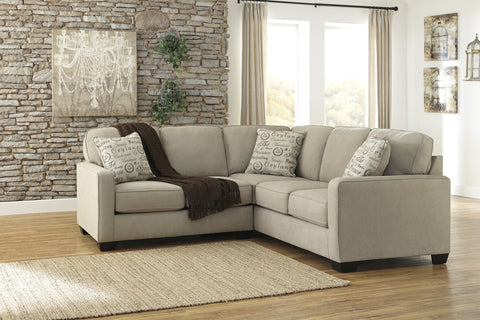 Alenya Vintage Casual Tan Fabric Left Chaise Sectional Sofa
