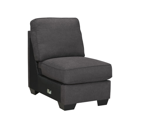 Alenya Vintage Casual Charcoal Grey Fabric Armless Chair